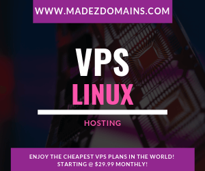 ENJOY THE CHEAPEST VPS PLANS IN THE WORLD! STARTING @ $29.99 MONTHLY!