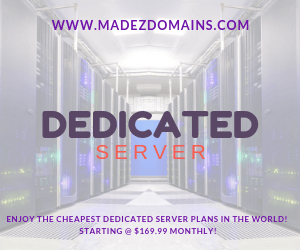 ENJOY THE CHEAPEST DEDICATED SERVER PLANS IN THE WORLD! STARTING @ $169.99 MONTHLY!